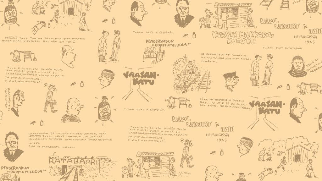 Linkki tapahtumaan Hima & Stradan keskusteluoppaat Pullopostia Kurvista -näyttelyssä