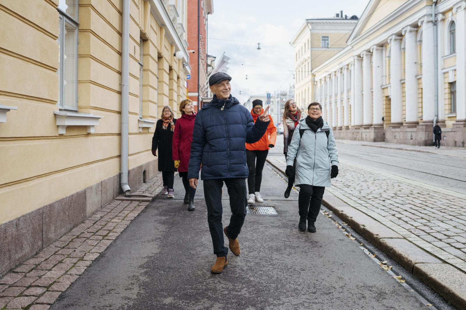 Helsingin kaupunginmuseo,  Aihe: Kävelykierrokset / Katajanokan jugend, Tilaaja: Anna Finnilä, Valokuvaaja: Juho Kuva