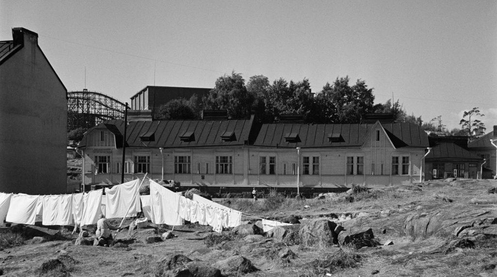 Kirstinkadun työväenasunnot kesällä 1955